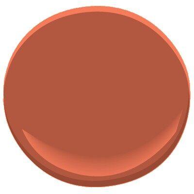 Fiery opal 077 paint benjamin moore fiery opal paint for Navajo red benjamin moore