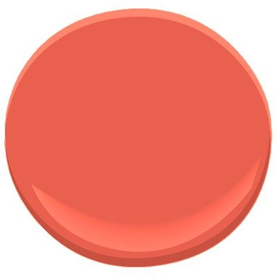 starburst orange 2010-30 paint - benjamin moore starburst orange