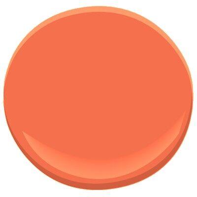 Jeweled peach 2013 30 paint benjamin moore jeweled peach - Peachy orange paint color ...