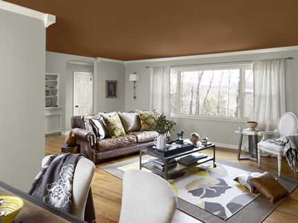 Benjamin Moore Color Trends 2013 Artisan gray living room 1