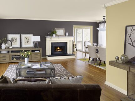 Benjamin Moore Color Trends 2013 Artisan buff living room 2