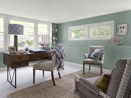 Benjamin Moore Color Trends 2013 Coastal blue home office 1