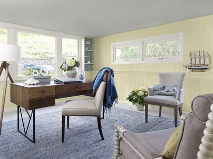 Benjamin Moore Color Trends 2013 Coastal yellow home office 1