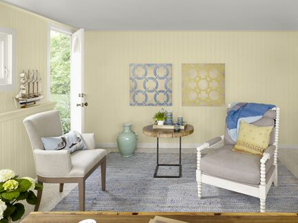 Benjamin Moore Color Trends 2013 Coastal yellow home office 2