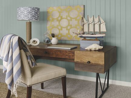 Benjamin Moore Color Trends 2013 Coastal blue home office vignette