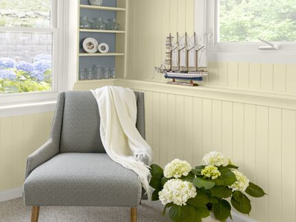 Benjamin Moore Color Trends 2013 Coastal yellow home office vignette