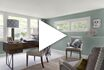 Video screen shot Benjamin Moore home office colors