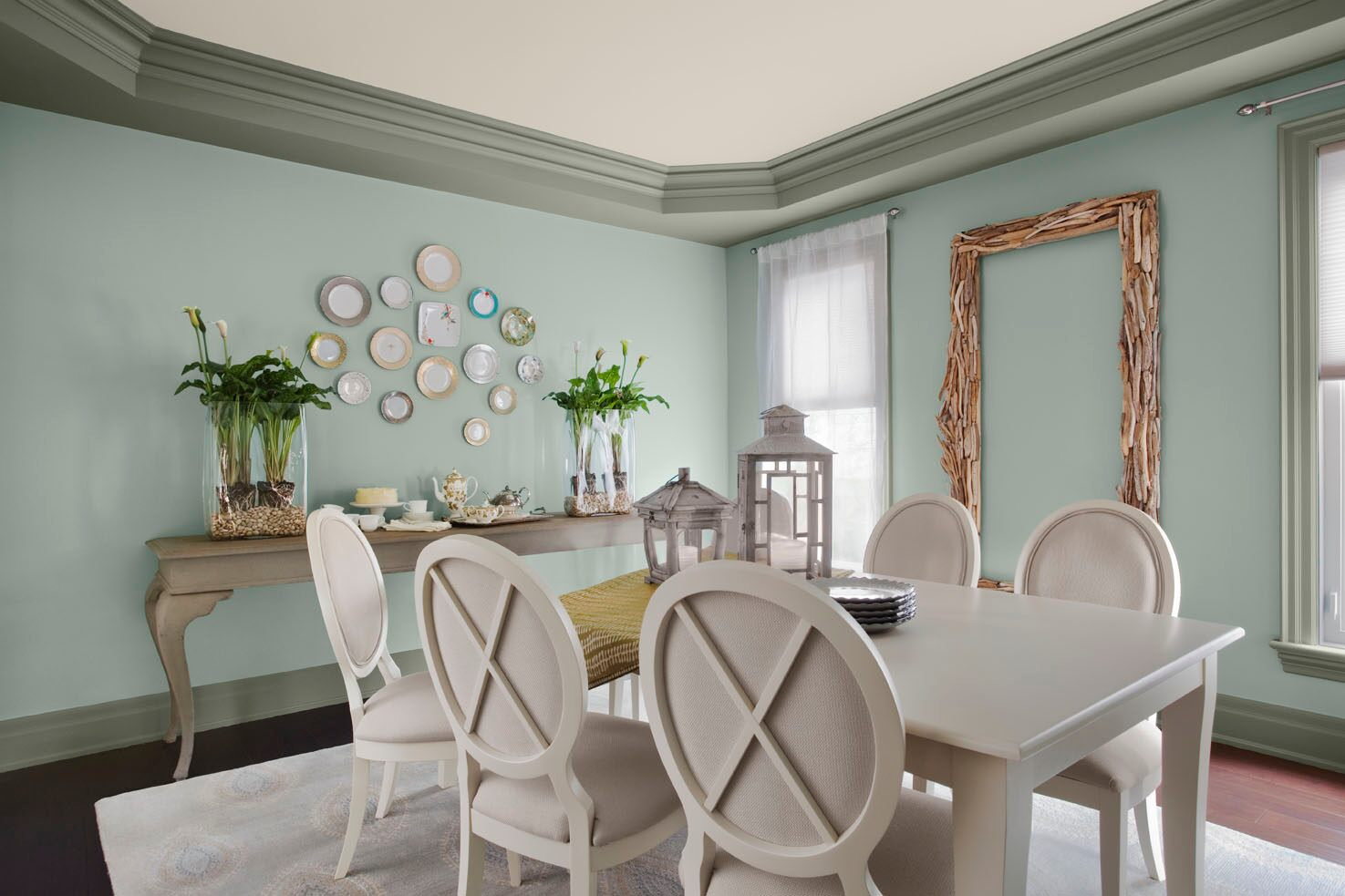 Blue Painted Dining Chairs