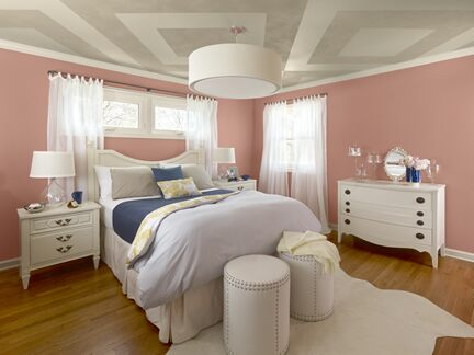 Coral bedroom photo 1 Benjamin Moore Colour Trends 2013