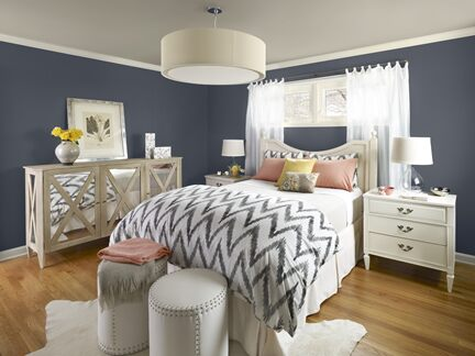 Blue bedroom photo 2 Benjamin Moore Colour Trends 2013