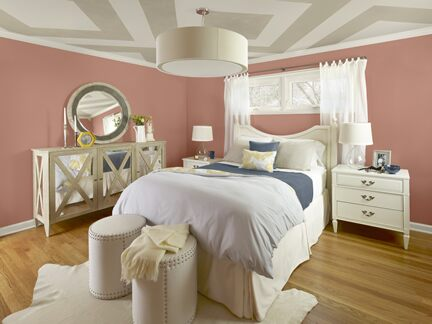 Coral bedroom photo 2 Benjamin Moore Colour Trends 2013