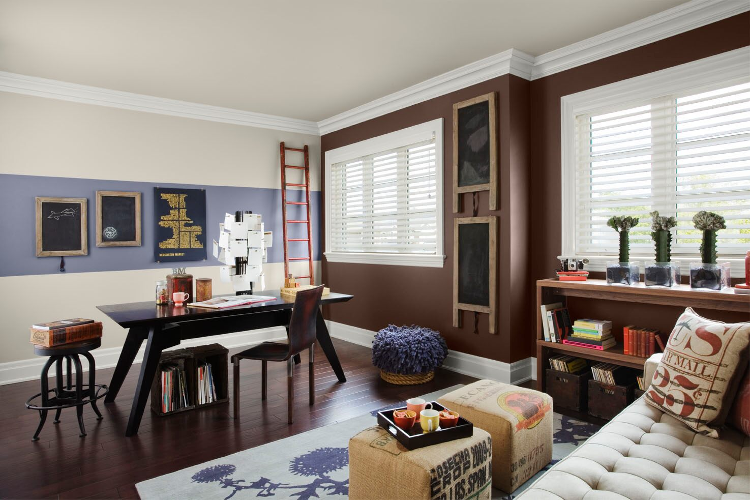 Benjaminmoore bedroom colors with accent wall home for Brown colors for walls