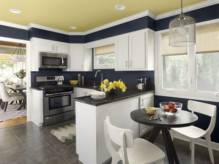 Benjamin Moore Color Trends 2013 Urbanite blue kitchen 1