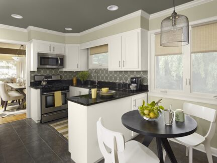 Benjamin Moore Color Trends 2013 Urbanite green kitchen 1