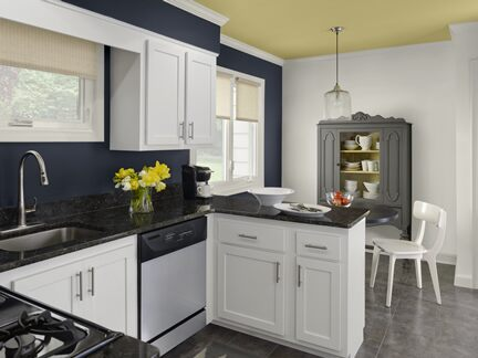 Benjamin Moore Color Trends 2013 Urbanite blue kitchen 2