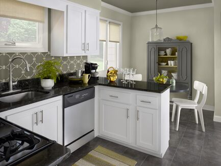 Benjamin Moore Color Trends 2013 Urbanite green kitchen 2