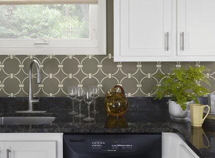 Benjamin Moore Color Trends 2013 Urbanite green kitchen vignette