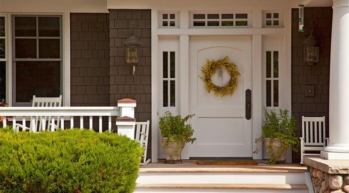 Curb appeal front door inspiration paint colors for Exterior door colors benjamin moore
