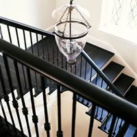 A stairwell painted crestridge white (DC-04)