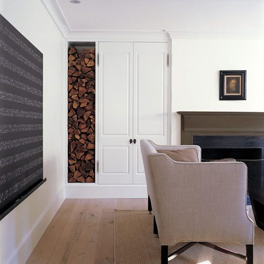 A living room with marbury brown (DC-23) accents