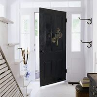 A front door painted phelps black (DC-22)