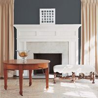 Accent wall painted bullock gray (DC-46)