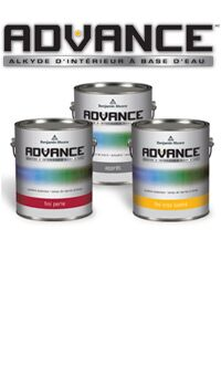 <h1>Nouvelle peinture alkyde à base d'eau pour les armoires. Obtenez un superbe fini avec la peinture alkyde ADVANCE à basse teneur en COV et facilement lavable à l'eau savonneuse.</h1>POUR EN SAVOIR PLUS