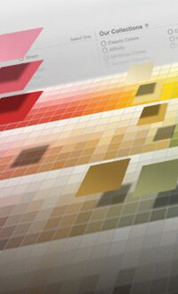 <h1>Color Gallery<br>Now you and your clients can select the perfect colors with our unique new color tool</h1>LEARN MORE