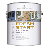 Fresh start premium exterior primers archives paintplaceny - Benjamin moore exterior wood primer ...