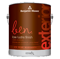 ben Waterborne Exterior Paint- Low Lustre