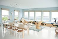 Benjamin Moore Colour of the Year Breath of Fresh Air living area