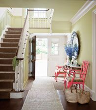 Benjamin Moore Aura and ADVANCE paints in entryway