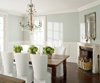 Benjamin Moore Aura and ADVANCE paints in dining room