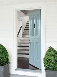 Benjamin Moore Door in Colour of the Year Breath of Fresh Air