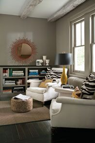 Benjamin Moore ADVANCE and REGAL Select in White Dove and Flint