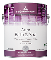Aura Bath & Spa paint from Benjamin Moore resists bathroom moisture and humidity.