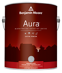 Aura Exterior paint from Benjamin Moore doesn't fade, crack or peel.