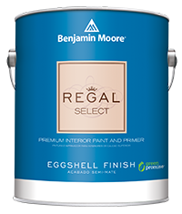 Regal Select Interior paint from Benjamin Moore has excellent durability, hide and coverage.