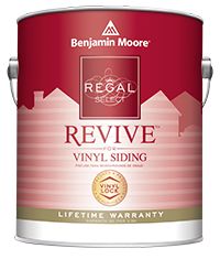 Regal Select REVIVE paint from Benjamin Moore is the only paint specifically designed for vinyl siding and trim.