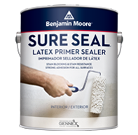 Elmont Paint & Design Center Sure Seal ™ Latex Primer offers strong adhesion for all surfaces and excellent stain blocking and resistance in a low VOC formula.boom
