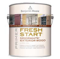Colorful Coatings - Benjamin Moore Paints A premium quality exterior primers ensure best results, especially when priming new or previously painted wood and weathered surfaces.boom