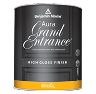 Frontier Paint Company Aura Grand Entrance brings rich, vivid color and exceptional durability to your interior/exterior doors and trim.
