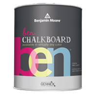 Benjamin Moore - Tryon Hills Paint Chalkboard Paint, available in any color, lets you turn virtually any interior surface into an erasable chalkboard.boom