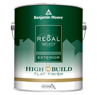 Paul's Paintin' Place REGAL Select Exterior High Build offers optimum coverage for added protection and durability in fewer coats.