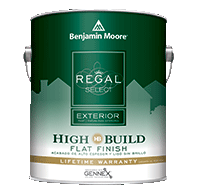 MERRELL PAINT & DECORATING INC Regal Select Exterior High Build offers optimum coverage for added protection and durability in fewer coats.boom