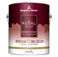 PORTAGE AVENUE PAINTS INC. REGAL Select Exterior High Build is a thick, high-build, 100% acrylic formula that bridges small cracks and voids in fewer coats.boom
