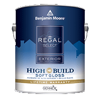 ROCKLEDGE PAINT & DECORATING Regal Select Exterior High Build offers optimum coverage for added protection and durability in fewer coats.