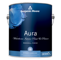 Elmont Paint & Design Center Aura Interior, with our exclusive Color Lock technology, delivers the ultimate performance for brilliant, rich, and everlasting color.
