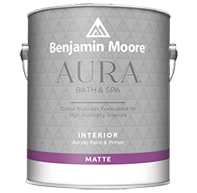 PORTAGE AVENUE PAINTS INC. Aura Bath & Spa is a luxurious matte finish designed for high-humidity environments.