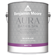 EVOLUTION PAINT COMPANY Aura Bath & Spa is a luxurious matte finish designed for high-humidity environments.